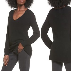 Nordstrom BP Black V Neck Sweater